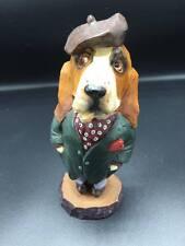 Sherlock Holmes Basset Hound Dog Solid Polyresin Resin Figurine Statue