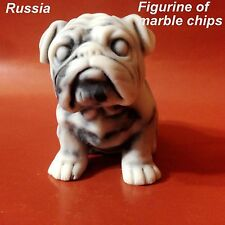 English Bulldogs figurine Dog marble chips made in Russia