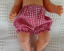 """BJB dolls clothes Red gingham knickers pants fit 18"""" baby born doll"""
