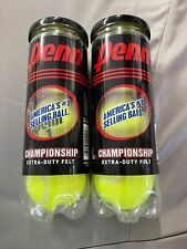 New Lot of 2 Penn Championship Tennis Balls 3 pack Extra Duty Felt Made in Usa