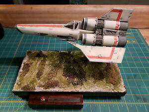BUILT+LIGHTED Galactica COLONIAL VIPER in 1/32 Scale W/Mount, Base and MORE!