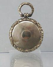 GIALLO Georgiano Metallo MEMENTO MORI Medaglione di Arricciata Capelli intorno al 1820