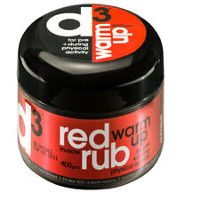 d3 Red Muscle Warm Up Sports Medical Physio Wax Rub Cream (400g)