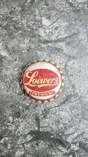 LOEWER'S PREMIUM BEER SODA BOTTLE CAP CORK-LINED NEW YORK, N.Y.