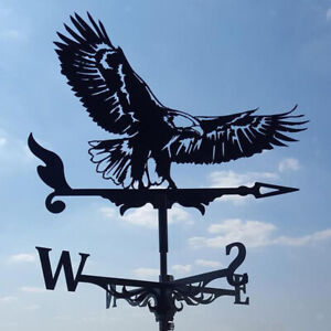 Black Weathervane Weather Vane Wind Direction Indicator Outdoor Yard Decor