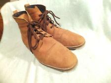 Nava Apparel Soft Tan leather Cap Toe Ankle Boots Size 12.5M Quite Good