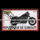 ★ HARLEY-DAVIDSON XL 883 N IRON ★ DJIBOUTI Timbre Poste Moto / Motorcycle #208