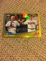 2013 Topps Chrome #164 Alex Wood Rookie Gold Refractor 46/50