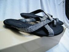 SERGIO ROSSI SHOES BALLET flats loafers SANDALS black 36.5 6.5