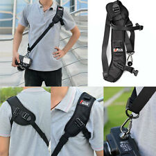 Black Focus F-1 Quick Rapid Shoulder Sling Belt Neck Strap For Camera SLR DSLR