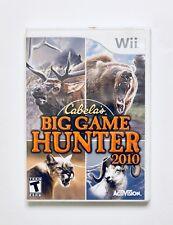 CABELAS BIG GAME HUNTER 2010 WII GAME - COMPLETE - TESTED