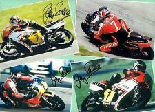 Barry SHEENE (+) 4 TOP - Autogramm Bilder (1) - Print Copies + Moto AK signiert