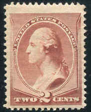 1883 US #210 A57 2¢ 1883 Mint Never Hinged Stamp Catalogue Value $135.00