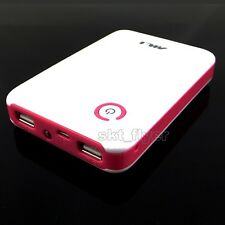 Pink 5V 2A USB Mobile Power Bank Charger box For 18650 Battery iphone Mp3 LED