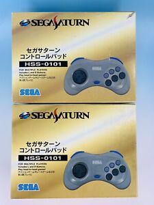 Set 2 Sega Saturn Controller Gray HSS-0101 Control pad Japan W/Box
