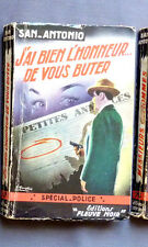 SAN ANTONIO J'AI BIEN L'HONNEUR DE VOUS BUTER   Ed FLEUVE NOIR 1955  N° 67