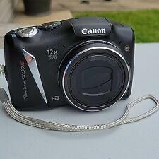 Canon PowerShot SX130 IS 12.1MP Digital Camera Black PC1562 - TESTED - WORKING
