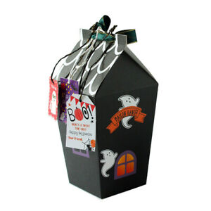10Pcs Halloween Candy Gift Boxes Paper Bags Container Party Decoration Supplies