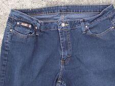 "size 16 M womens jeans Riders dark Denim 30.5"" inseam 5 pocket EUC straight leg"