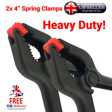 """2pc 4"""" Heavy Duty Spring Clamps - Spring, Jaw, Opening, Large, Nylon, Tool,Clamp"""