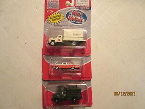3-Mini-Metals Diecast 1:87 Scale Vehicles, NEW IN BOX