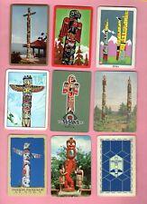 Single Swap Playing Cards Totem Poles Indians Eskimo Art Souvenirs A Few Vintage