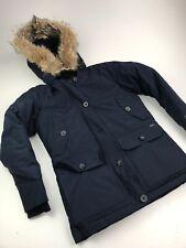 Womens Woolrich Arctic Parka DOWN COYOTE FUR HOOD Blue Sz XS