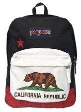 Jansport Superbreak Backpack Book Bag Red New California Republic