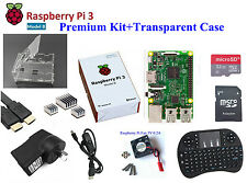 AU Raspberry Pi 3 Model B Basic/Starter/Advanced/Premium Kit HDMI/Case/Keyboard