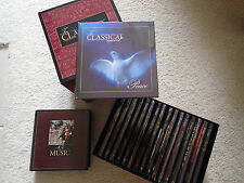 """NEW """"In Classical Mood"""" 17 Music CDs & Books + Reference Guide + 2 Storage Cases"""