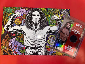 Rare UFC Clay The Carpenter Guida Fighter Worn Relic & ACEO Card Lot