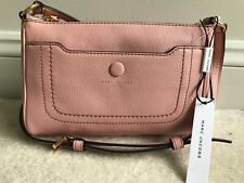 NEW! MARC JACOBS Empire City Crossbody Purse Rose Pink Pebble Leather