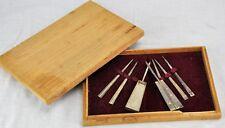"""Chinese silver opium tool set, marked.  Box 9"""" x 6"""", weight 7 Oz. (BI#MK/180529)"""