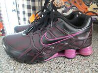 Nike Shox Turbo XII SL Black Magenta Purple Shoes Size 6.5 Womens 472530-400