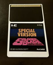 PC Engine Soldier Blade Special Version 'Not for Sale' SHMUP Japan HU-Card