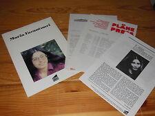 Maria Farantouri-Canzoni da Grecia/stampa-Promo-cartella 1981