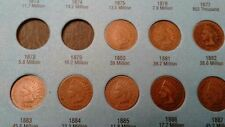 30 different Indian Head Cents Pennies set 1880 - 1909 P Choice Good+