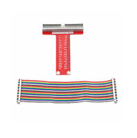 T GPIO Breakout Expansion Board +40Pin Rainbow Cable DIY Raspberry Pi B+ 3 2 BBC