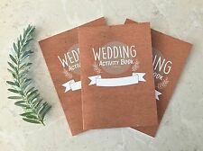 Kids Wedding favour. 3 Pack Children's Wedding activity and colouring Book x3
