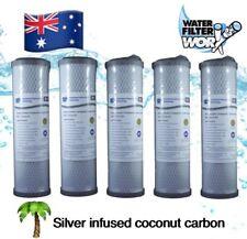 "1 MICRON SILVER CARBON WATER FILTER 10"" x 2.5"" CARAVAN |TANK |UNDERSINK 5 PACK ✅"