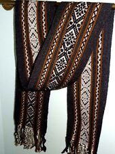 "New Peruvian Fine Handmade Scarf or  Table Runner Wool Sheep 6.5"" x  62 "" SALE!"