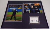 George W Bush Signed Framed 16x20 Photo Display 2001 World Series