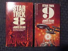 1972/73 STAR TREK by James Blish #8 #9 FN+/FVF 3rd/1st Bantam Paperback LOT of 2