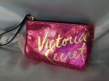Victorias Secret Foil Key Ring Coin Change Purse Wristlet Bag Wallet NWT