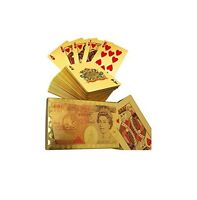 £50 Edition 24K Gold Plated Playing Cards Poker Deck 99.9%Pure Plastic Card