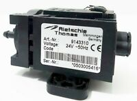 """Rietschle Thomas Small 3"""" Vacuum Pump Model 9143310  24 Volts Germany"""