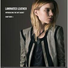 Helmut Lang Rift Laminated Lamb Leather Jacket Sz P