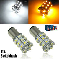 Dual Color 1157 Switchback LED For Honda Nissan Hyundai Front Turn Signal Lights