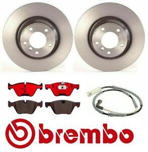 For BMW E90 330i 330Xi 2006 Front Brake Rotors & Ceramic Pads with Sensor Brembo