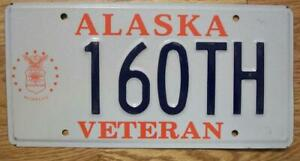 SINGLE ALASKA LICENSE PLATE - 160TH - VETERAN - U.S. AIR FORCE
